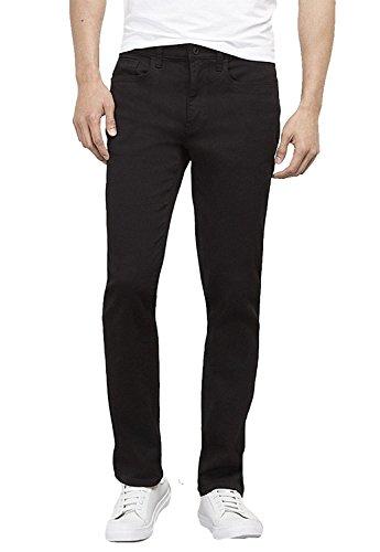 Black Jean Style Pant - Kenneth Cole Men's New York Dark Indigo Straight Denim Pant, Black, 32W x 30L