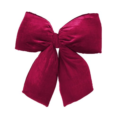 Vickerman 24'' x 27'' Commercial Size Burgundy Red Indoor Velvet Christmas Bow, Large