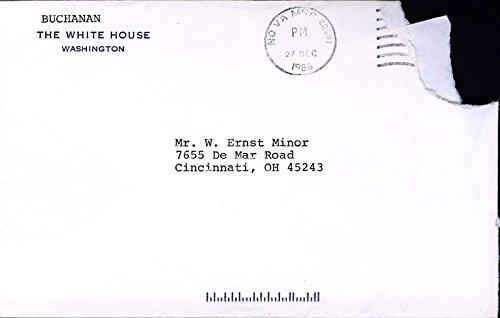 Patrick J. Buchanan Autograph Letter Signed 12/29/1986