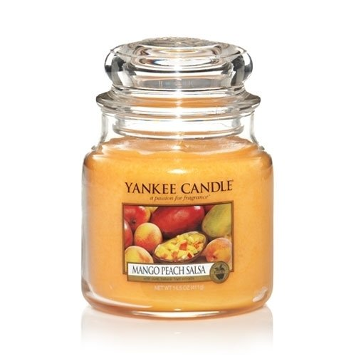 Medium Scented Jar (Yankee Candle Medium Jar Candle, Mango Peach Salsa)