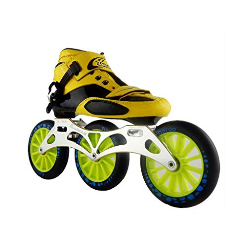 レイ風変わりな崖ailj スピードスケートシューズ3 * 125MM調整可能なインラインスケート、ストレートスケートシューズ(5色) (色 : 黒, サイズ さいず : EU 42/US 9/UK 8/JP 26cm)