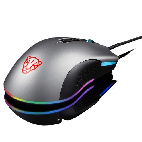 Mouse Motospeed V70 Cinza 7 Botões 12000 DPI RGB PMW3360 IC Gamer
