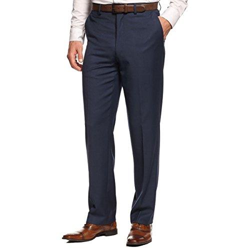 (MICHAEL Michael Kors Mens Twill Flat Front Dress Pants Blue 32/30)