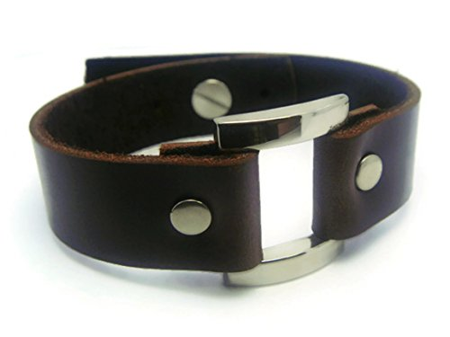 ZVACE Jewelry Quality Leather Adjustable Charm Bangle Wristband Cuff Bracelet (Brown), MA6 (Hindu Halloween Costumes)