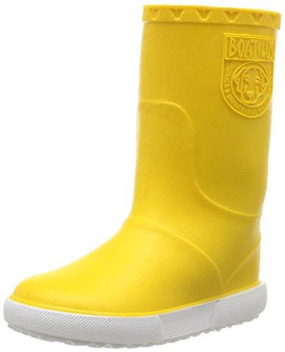 Boatilus Nautic, Unisex - Kinder Stiefel & Stiefeletten Gelb - Jaune (Jaune Banane/Blanc)