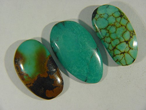 Genuine Natural Chinese Turquoise Lapidary Freeform Cabochon 9525C h