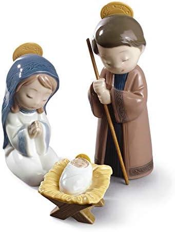 NAO Nativity. Porcelain The Holy Family Figure.
