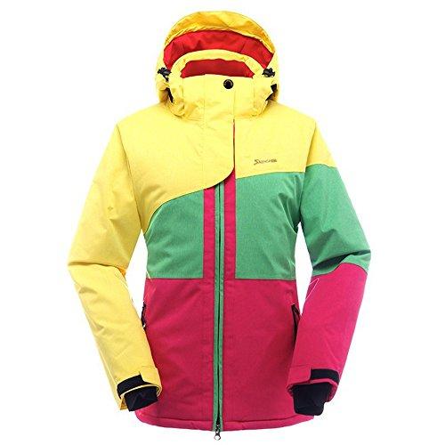 SAENSHING Women's Ski Jacket Waterproof Windproof Snow Jacket Winter Lined Mountain Rain Jacket (XS, Yellow)