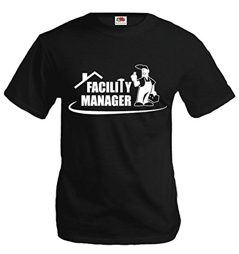 T-Shirt Facility Manager-L-Black-White