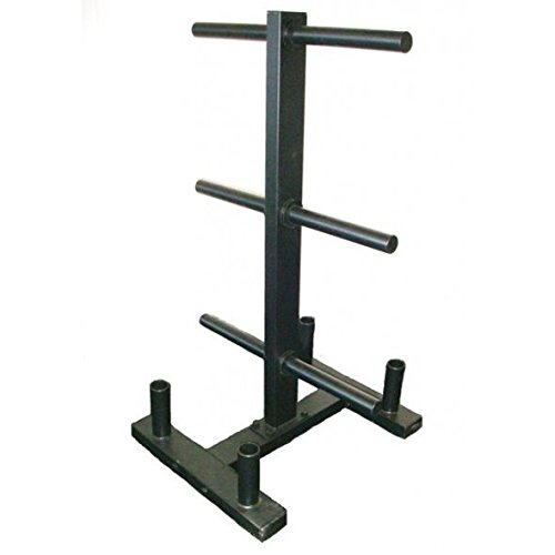 Wright Equipment Bumper Tree w/ 4 Olympic Bar Holders - Plate Storage