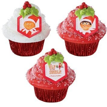 Price comparison product image Elf on the Shelf Christmas Cupcake Rings - 24 pc