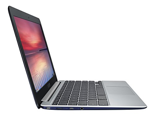 ASUS C201 11.6 Inch Chromebook (Rockchip, 4 GB, 16GB SSD, Navy Blue)