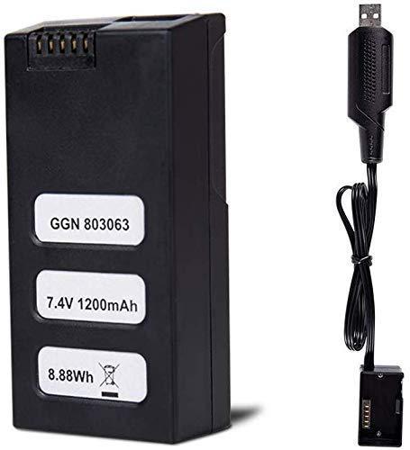 HUKKKYVIT Battery 7.4V 1200mAh for sbg616 Drone