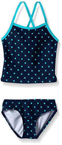 Kanu Surf Baby Girls' Chloe Tankini Swim Suit, Navy, 12 Months