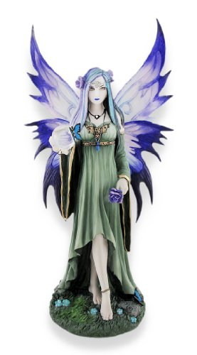 Veronese Anne Stokes `Mystic Aura` Fantasy Fairy Statue (Statue Large Fairy)