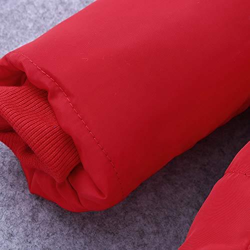 Manadlian Garçons Doudoune Garçon Rayure Mignonnes Mixte Rouge Bébé Chaud Manteaux Vêtements Épaissi Veste Survêtements Capuche Fille Hiver À Manteau De Filles FwUq5zA