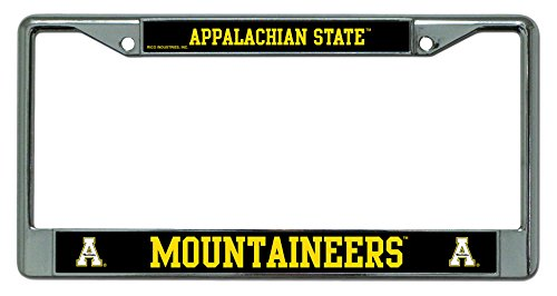 (Rico Industries NCAA Appalachian State Mountaineers Standard Chrome License Plate Frame)