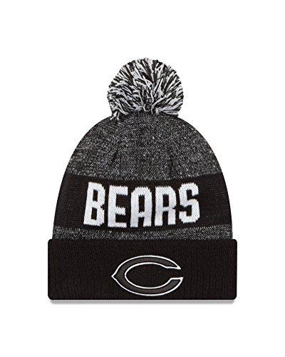 (New Era NFL Chicago Bears 2016 Sport Knit Beanie, One Size, Black/White)