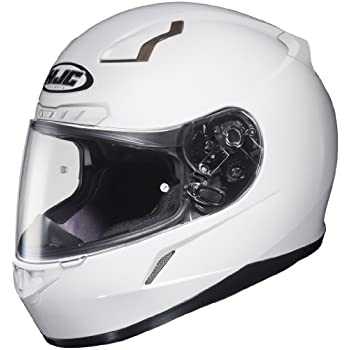 HJC Solid Mens CL-17 Full Face Motorcycle Helmet - White/Medium