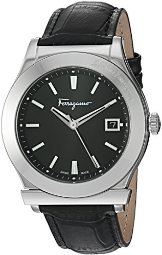 Salvatore-Ferragamo-Mens-FF3950014-1898-Analog-Display-Swiss-Quartz-Black-Watch