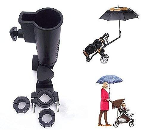 VGEBY1 Stroller Chair Umbrella Bar Holder,Umbrella Frame Stand Wheelchair Umbrella Stand Handle Umbrella Retractable Holder Fit for 2-2.5Cm Handlebar