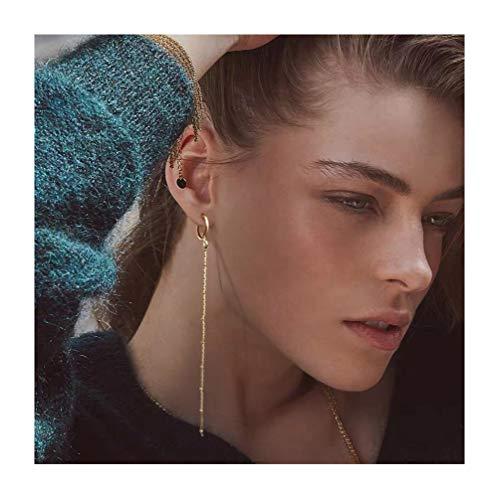 - Long Earrings Gold Dangle Earrings Leverback Earrings Simple Chain Earrings for Women
