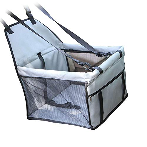 ADSRO Pet Car Mesh Bag, Pet Reinforced Car Booster Chair Dog Cat Portable and Breathable Bag Pet Car Bag Out Travel Car Mat