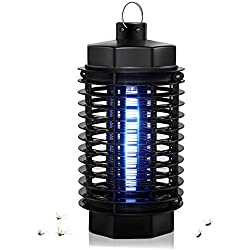 SIBOTER Outdoor Bug Zapper Electric Mosquito Killer Indoor Fly Insect Repellent Lights Lamp UV Trap Lantern for Camping, Home, Backyard, Patio, Porch, Garden, Deck