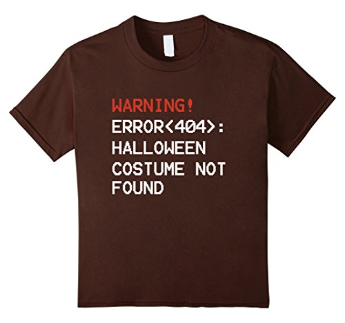 Error Code Costume 404 (Kids ERROR 404 Halloween Costume Not Found Code T-Shirt 8)