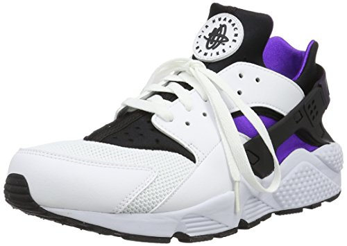Nike Air Huarache 318429 105 White/Hypr Grp-Black-Purple-Dynsty (11.5) by NIKE