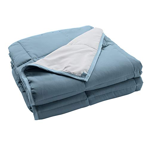 Cheap Great Bay Home Weighted Blanket for Adults Heavy Calm & Soothe Blanket with Glass Beads 15 lbs Blue 48
