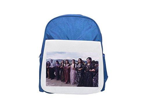 Wedding dance in Kurdistan 2002 printed kid's blue backpack, Cute backpacks, cute small backpacks, cute black backpack, cool black backpack, fashion backpacks, large fashion backpacks, black fashion b