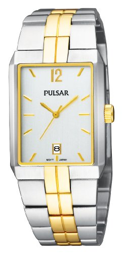 Pulsar Men's PXDB50 Two-Tone Case and Bracelet Silver Dial Watch
