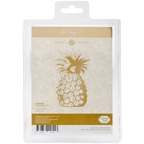 Artdeco Creations Pineapple Couture Creations Anna Griffin Hotfoil Plate