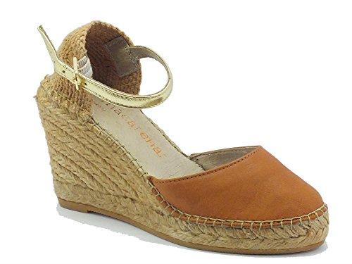 Macarena CARLA8 Cuero/oro - Sandalias de vestir de Piel para mujer Cuero/oro