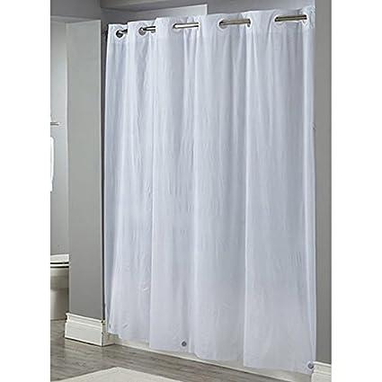 Focus HBH04PDT01 White Hookless Shower Curtain HBH04PDT01