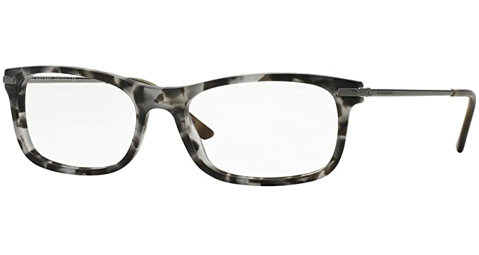 6a34cfeebbfb Burberry Glasses Frames 2195 3534 Matte Grey Havana Womens 53mm at ...