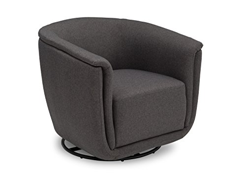 - Delta Children Skylar Nursery Glider Swivel Rocker Tub Chair, Charcoal Grey
