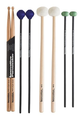 Innovative Percussion FP2 Fundamental Series Intermediate Pack with Stick Bag Rock Drumsticks
