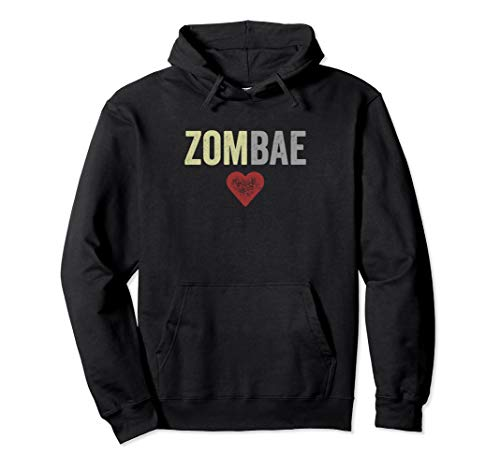 Zombae Halloween Couple Before Anyone Else for Zombie Lovers Pullover Hoodie]()