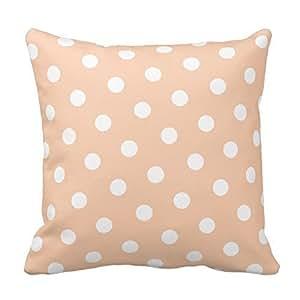 Standard Cases Decorative Peach Polka Dot Pillow Cover