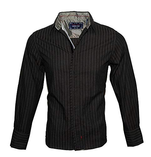 Rock Roll-n-Soul Men's Long Sleeve Button up Fashion Shirt  (2XL) -