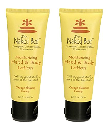 (The Naked Bee Orange Blossom & Honey Hand and Body Lotion, 2.25 Oz (2)