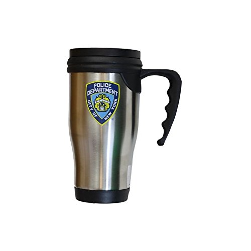NYPD Travel Mug Officially Licensed New York Police Coffee Cup Stainless Steel