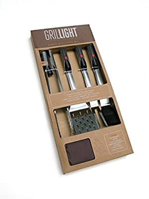 Grillight Stainless Steel LED Utensils from Grillight