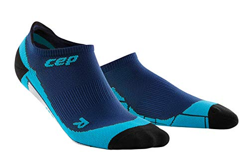 Men's No Show Compression Running Socks - CEP (Lagoon/Pink) V