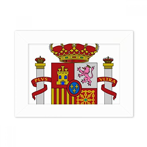 DIYthinker Spain Europe National Emblem Desktop Photo Frame White Picture Art Painting 5x7 inch by DIYthinker