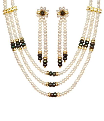 7cd1b532330 Trendy Souk --- Fascinating Triple Strands--- White and Black AAA Quality