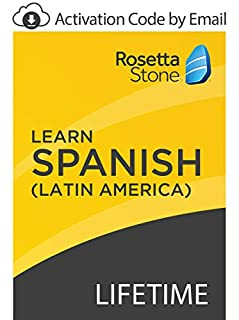 Rosetta Stone: Learn Spanish (Latin America) with Lifetime Access on iOS, Android, PC, and Mac [Activation Code by Email] (B07GJKBZX4) | Amazon price tracker / tracking, Amazon price history charts, Amazon price watches, Amazon price drop alerts