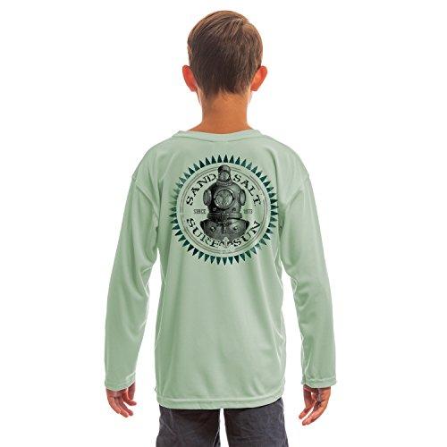 Sea 206 Clothing (SAND.SALT.SURF.SUN. Diver Helmet Youth UPF 50+ UV/Sun Protection Long Sleeve T-Shirt Medium)